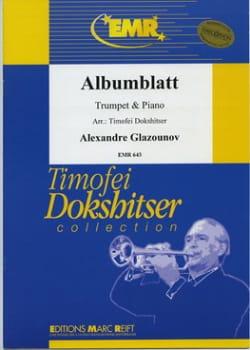 Albumblatt GLAZOUNOV Partition Trompette - laflutedepan