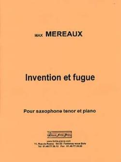 Invention et fugue Max Méreaux Partition Saxophone - laflutedepan