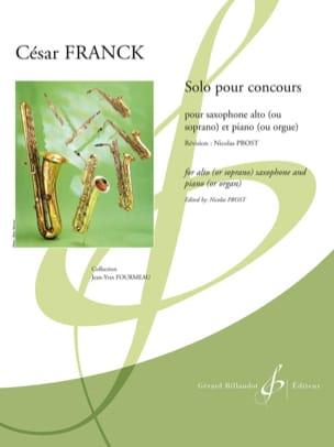 Solo pour Concours FRANCK Partition Saxophone - laflutedepan