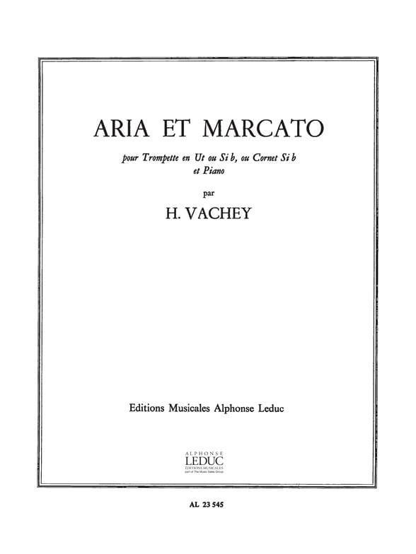 Aria Et Marcato - Henri Vachey - Partition - laflutedepan.com