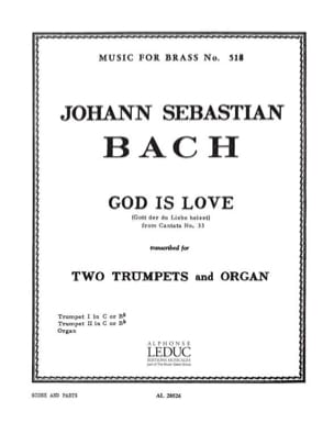 God is love from cantate N° 33 BACH Partition Trompette - laflutedepan