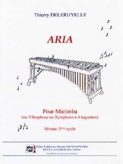 Aria Pour Marimba Thierry Deleruyelle Partition Marimba - laflutedepan