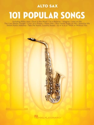 101 Popular Songs Partition Saxophone - laflutedepan