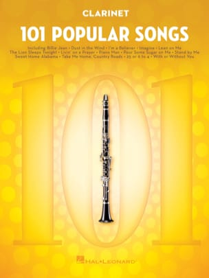 101 Popular Songs Partition Clarinette - laflutedepan