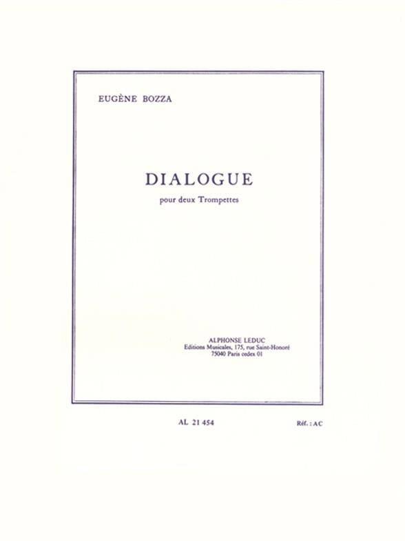 Dialogue - Eugène Bozza - Partition - Trompette - laflutedepan.com