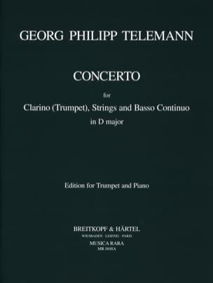 Concerto In D Major - TWV51:D7 TELEMANN Partition laflutedepan