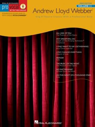 Andrew Lloyd Webber - Pro Vocal Männer Edition - Andrew Lloyd Weber - Partition - di-arezzo.de