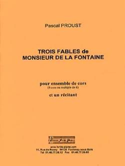 3 fables de Monsieur de la Fontaine Pascal Proust laflutedepan