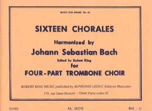 16 Chorales BACH Partition Trombone - laflutedepan