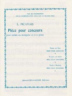 Pièce pour Concours Lucien Picavais Partition Trompette - laflutedepan