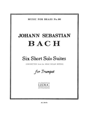 Six Short Solo Suites BACH Partition Trompette - laflutedepan