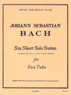 6 Short solo suites BACH Partition Tuba - laflutedepan