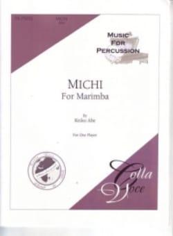 Michi For Marimba Keiko Abe Partition Marimba - laflutedepan