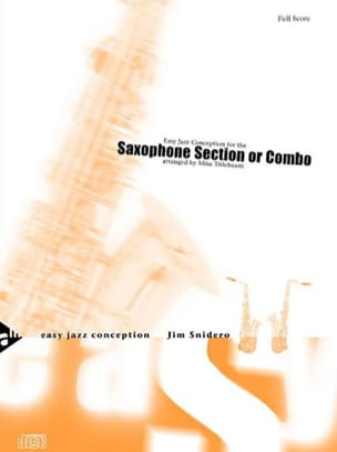 Easy jazz conception for the saxophone section or combo - laflutedepan.com