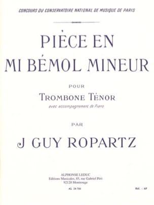 Pièce En Mib Mineur J.Guy Ropartz Partition Trombone - laflutedepan