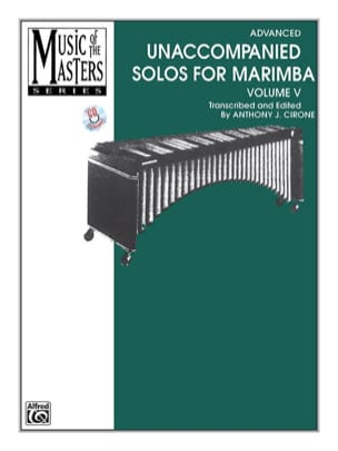 Unaccompanied Solos for Marimba - Volume 5 BACH Partition laflutedepan