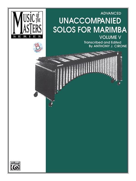 Unaccompanied Solos for Marimba - Volume 5 - BACH - laflutedepan.com