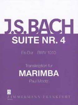 Suite N° 4 Es- Dur BWV 1010 BACH Partition Marimba - laflutedepan