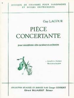 Pièce Concertante Guy Lacour Partition Saxophone - laflutedepan
