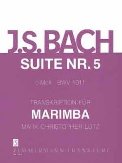 Suite N° 5 C-Moll BWV 1011 BACH Partition Marimba - laflutedepan