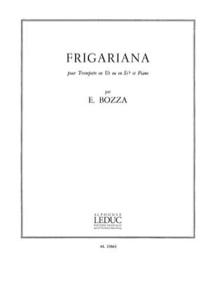 Frigariana Eugène Bozza Partition Trompette - laflutedepan