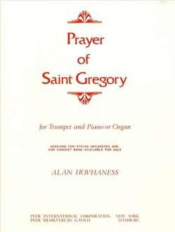 Prayer Of Saint Gregory Alan Hovhaness Partition laflutedepan