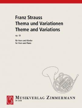 Thema Und Variationen Opus 13 Franz Strauss Partition laflutedepan