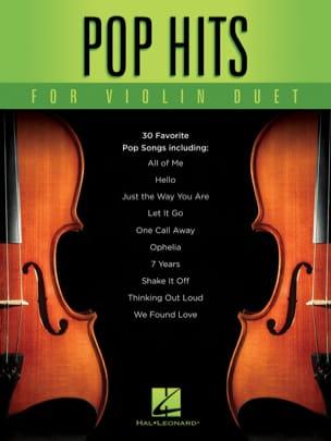 Pop Hits for Violin Duet Partition Violon - laflutedepan