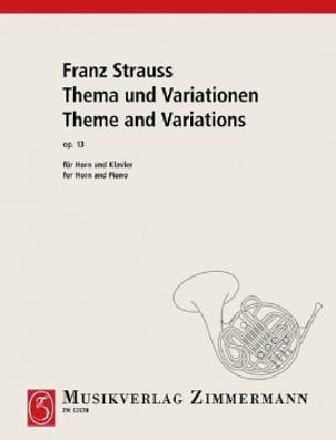Thema Und Variationen Opus 13 - Franz Strauss - laflutedepan.com