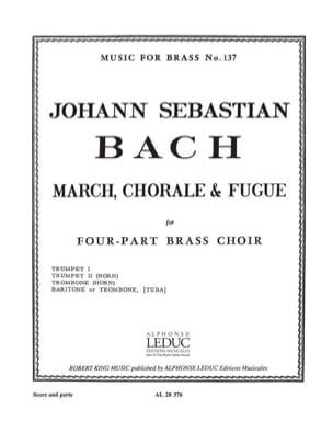 March, chorale & fugue BACH Partition laflutedepan