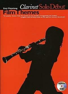 Clarinet Solo Début Film Themes Partition Clarinette - laflutedepan