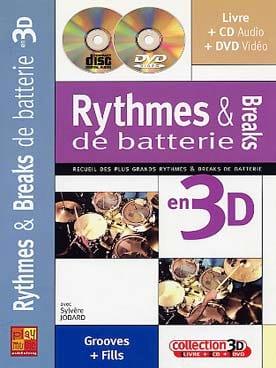 Rythmes & breaks de batterie en 3D Sylvère Jobard laflutedepan