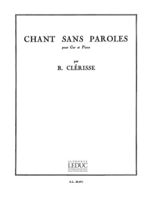 Chant Sans Paroles Robert Clérisse Partition Cor - laflutedepan