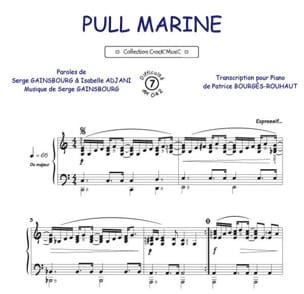 Pull Marine Isabelle Adjani Partition Chanson française - laflutedepan