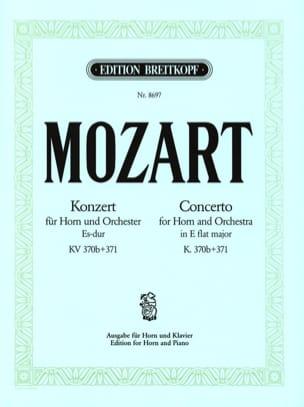 Concerto In E Flat Major K. 370b+371 MOZART Partition laflutedepan