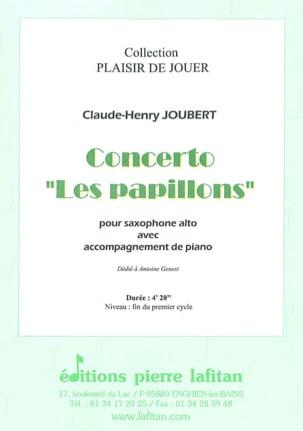 Concerto les papillons Claude-Henry Joubert Partition laflutedepan