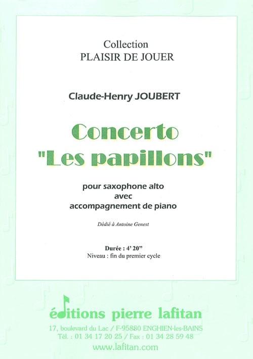 Concerto les papillons - Claude-Henry Joubert - laflutedepan.com