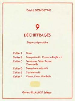 9 Déchiffrages Préparatoire Volume C Désiré Dondeyne laflutedepan