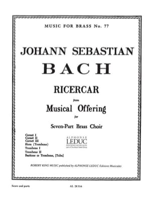 Ricercar From Musical Offering - BACH - Partition - laflutedepan.com