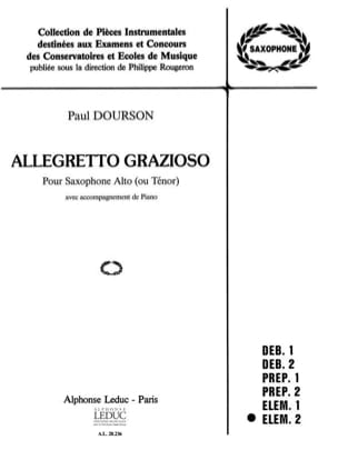 Allegretto Grazioso Paul Dourson Partition Saxophone - laflutedepan