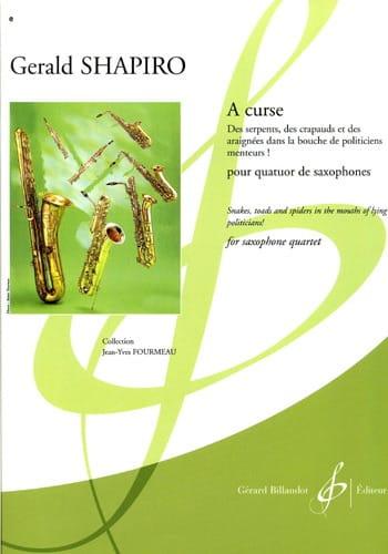 A Curse - Gerald Shapiro - Partition - Saxophone - laflutedepan.com