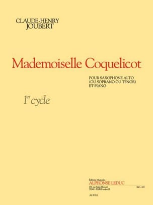 Mademoiselle Coquelicot Claude-Henry Joubert Partition laflutedepan