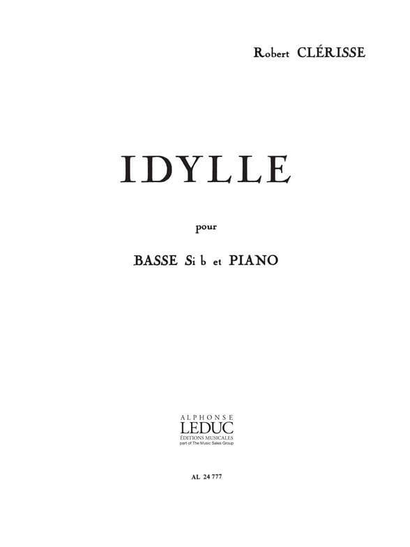 Idylle - Robert Clérisse - Partition - Tuba - laflutedepan.com