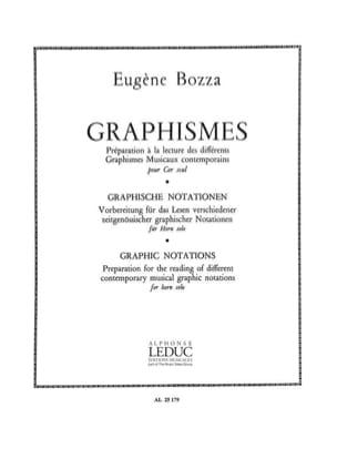 Graphismes Eugène Bozza Partition Cor - laflutedepan