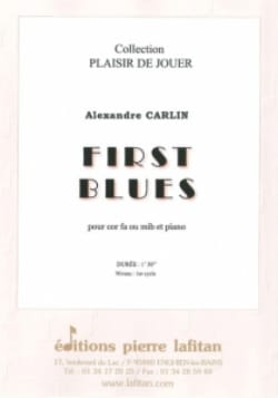 First blues Alexandre Carlin Partition Cor - laflutedepan