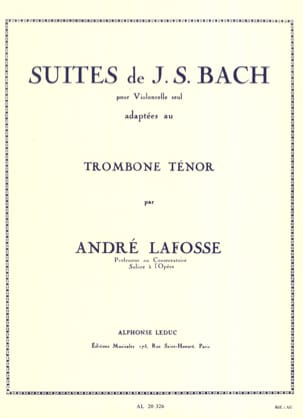 Suites BACH Partition Trombone - laflutedepan