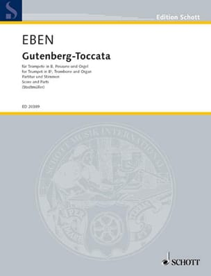 Gutenberg-Toccata Petr Eben Partition laflutedepan