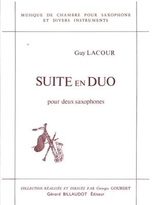 Suite En Duo Guy Lacour Partition Saxophone - laflutedepan