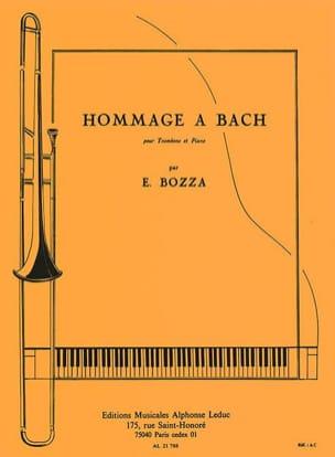 Hommage A Bach Eugène Bozza Partition Trombone - laflutedepan