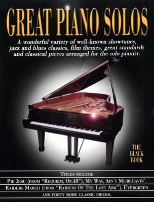 Great piano solos - The black book Partition laflutedepan
